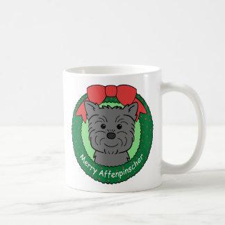 Navidad del Affenpinscher Taza Clásica