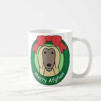 Navidad del afgano tazas de café