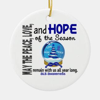 Navidad del ALS 3 ornamentos del globo de la nieve Adornos