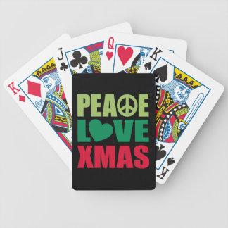 Navidad del amor de la paz barajas de cartas