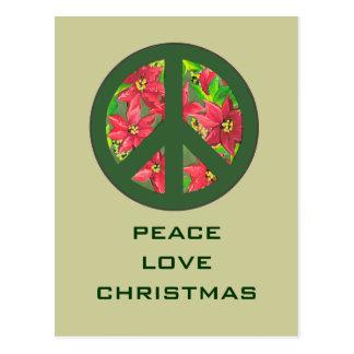 navidad del amor de la paz que saluda tarjetas postales