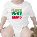 Navidad del amor de la paz traje de bebé