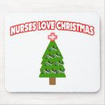 Navidad del amor de las enfermeras alfombrilla de raton