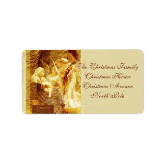 Navidad del amor del ángel etiquetas de dirección