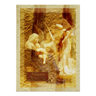 Navidad del amor del ángel póster