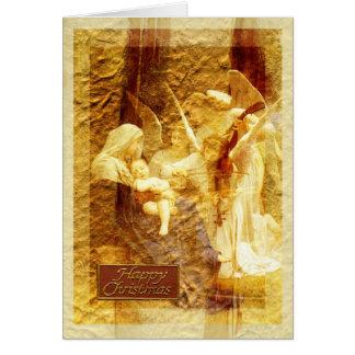 Navidad del amor del ángel tarjeta de felicitación