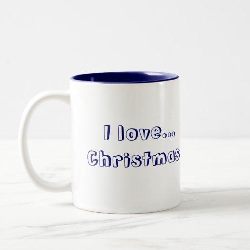 ¡navidad del amor del peluche 1 I del navidad…! Taza Dos Tonos