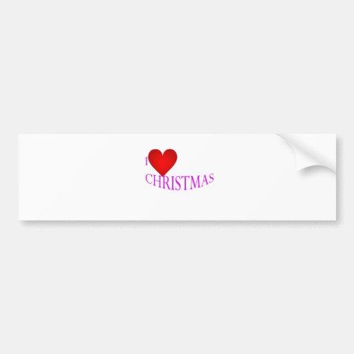 Navidad del amor pegatina de parachoque