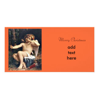 Navidad del ángel tarjetas fotograficas personalizadas