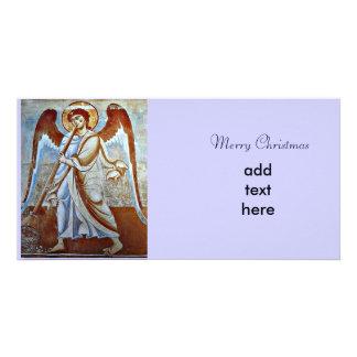 Navidad del ángel tarjetas fotográficas personalizadas