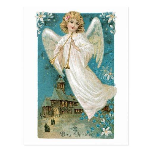Navidad del ángel tarjetas postales