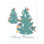 Navidad del arbolado postales