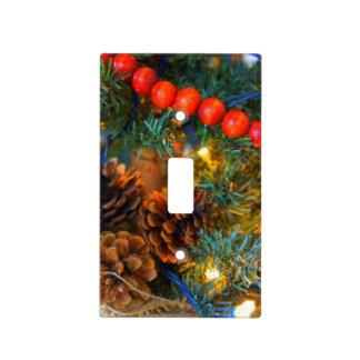 Navidad del arbolado tapas para interruptores
