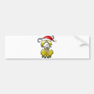 Navidad del aries pegatina de parachoque