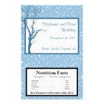 Navidad del azul del invierno de la envoltura de l tarjetón
