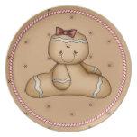 Navidad del bastón de caramelo de Cutie de la gall Platos De Comidas