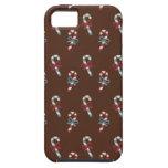 Navidad del bastón de caramelo iPhone 5 Case-Mate protectores