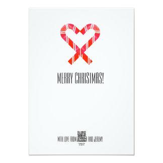"""Navidad del bastón de caramelo invitación 5"""" x 7"""""""