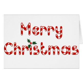 Navidad del bastón de caramelo tarjeton
