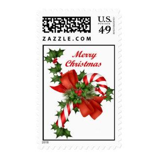 Navidad del bastón de caramelo timbre postal