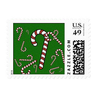 Navidad del bastón de caramelo timbres postales