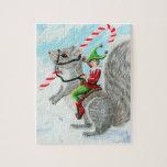 Navidad del bastón de Rasing Rompecabezas Con Fotos