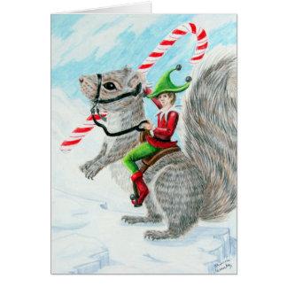 Navidad del bastón de Rasing Tarjeta