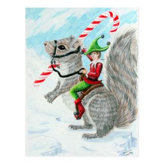Navidad del bastón de Rasing Postal