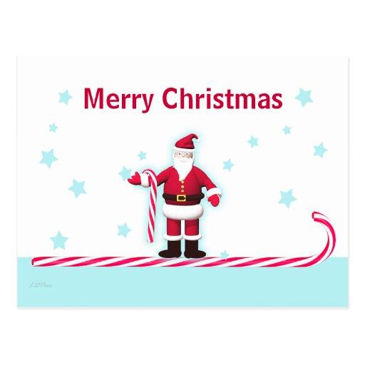 Navidad del bastón y de las estrellas de caramelo  tarjetas postales