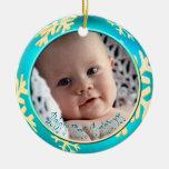 Navidad del bebé de los copos de nieve de PixDezin Ornamento De Navidad