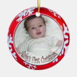 Navidad del bebé de los copos de nieve de PixDezin Ornamentos De Navidad