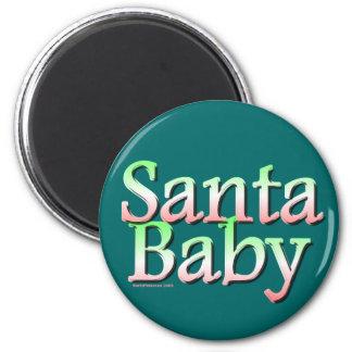 Navidad del bebé de Santa Imán Redondo 5 Cm