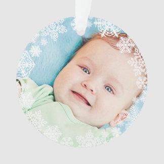 Navidad del bebé del ornamento el   de la foto del