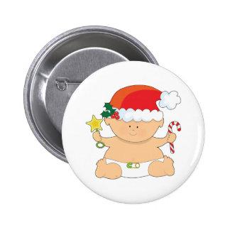 Navidad del bebé pin redondo de 2 pulgadas