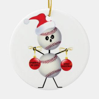 Navidad del béisbol ornamento de navidad