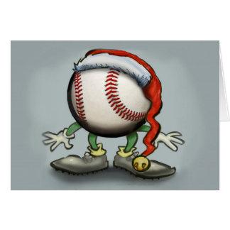 Navidad del béisbol tarjeta de felicitación
