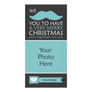 Navidad del bigote tarjetas personales