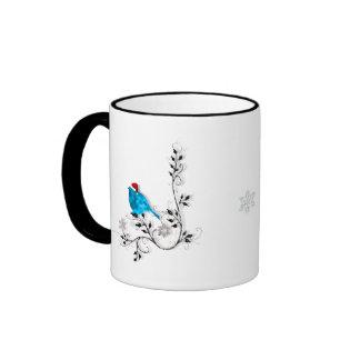 ¡Navidad del Bluebird! Taza De Dos Colores