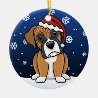 Navidad del boxeador del cervatillo del dibujo ani adorno