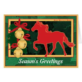 Navidad del caballo de la montaña rocosa de Belces Felicitación