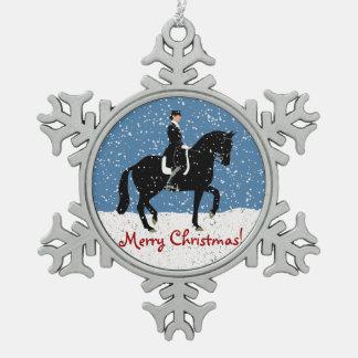 Navidad del caballo del Dressage Nevado Adorno