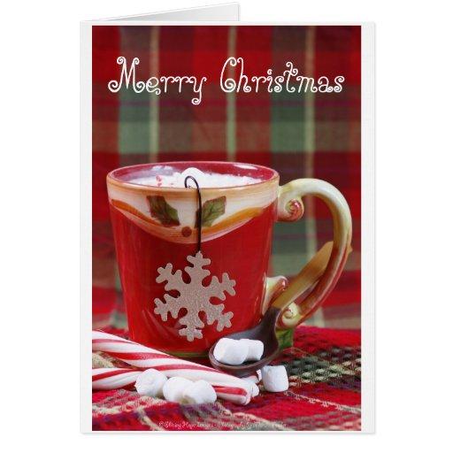 Navidad del cacao tarjeta de felicitación