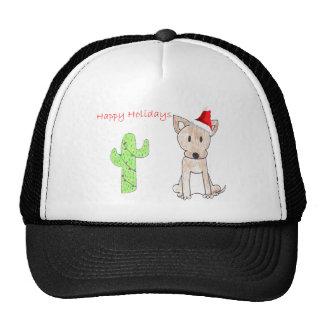 Navidad del cactus de la chihuahua gorra