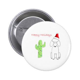 Navidad del cactus del caniche pin