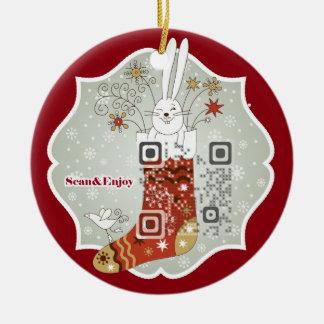 Navidad del calcetín que almacena el ornamento con adorno para reyes
