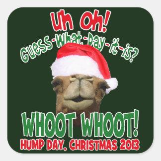 Navidad del camello del día de chepa 2013 pegatinas cuadradases personalizadas