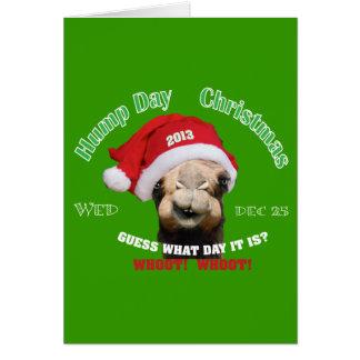 Navidad del camello del día de chepa tarjetas