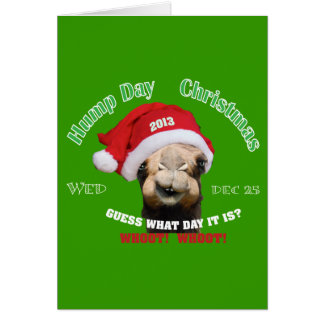 Navidad del camello del día de chepa tarjeta de felicitación
