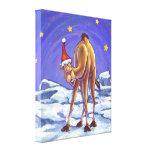 Navidad del camello impresiones en lona