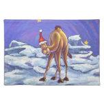 Navidad del camello mantel individual